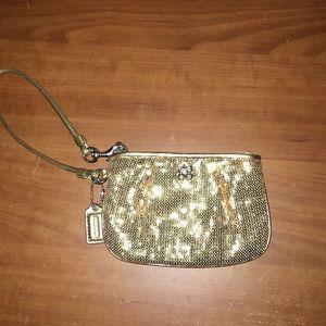 Coach wristlet coin purse